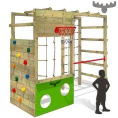 FATMOOSE CleverClimber Club XXL Klettergerüst Spielturm Reckstange Kletternetz