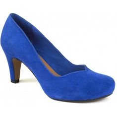 Clarks Chorus Voice Cobalt Ladies Court Shoe