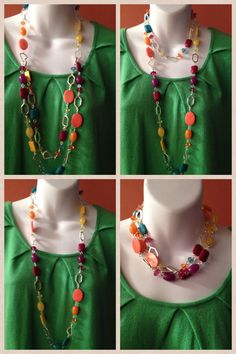 True Colors: 4 ways to wear it! Another great way to wear it is to double the necklace attachment and wear it as a bracelet. Looks great! Premier Jewelry, Premier Designs Jewelry, Jewelry Design, Jewelry Ideas, Premier Designs 2014, Budget Fashion, Latest Jewellery, True Colors, Jewelry Collection