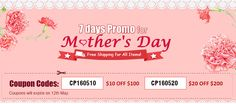 7 days Promo for Mother's Day on www.linkdelight.com !!! Coupon Codes: CP160510: $10 OFF $100; CP160520: $20 OFF $200. Coupons Will Expires on 12th-May-2016.
