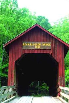 Bean Blossom Bridge, IN. Our friends Pam and Jim Miller lived in Bean Blossom when they were first married.