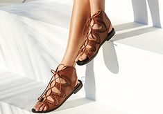 Fun in the Sun: Gladiator & Lace-Up Sandals!