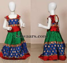 Tri Color Benaras Skirt | Indian Dresses