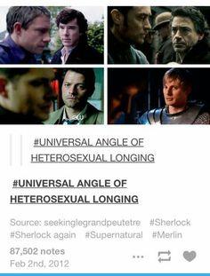 It's so funny that it's Sherlock and Watson two times<<<I don't ship destiel or johnlock but this is hilarious Johnlock, Destiel, Jim Moriarty, Sherlock Bbc, Watson Sherlock, Sherlock Quotes, Sherlock Fandom, Superwholock, John Barrowman