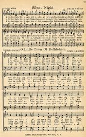 """Christmas Sheet Music - """"Silent Night"""" and """"O Little Town of Bethlehem"""" (Note from previous pinner: printable Christmas music pages) Christmas Sheet Music, Noel Christmas, Christmas Wrapping, Antique Christmas, Free Christmas Cards, Xmas Music, Christmas Lyrics, Christmas Night, Primitive Christmas"""