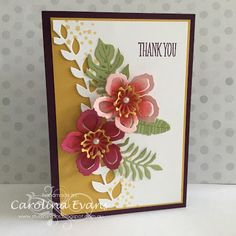 Carolina Evans - Stampin' Up! Demonstrator, Melbourne Australia: Thank You Botanical Blooms