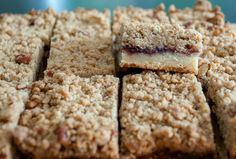 Buttery shortbread topped with sticky jam and a crunchy, crumble topping. These Crunch & Crumble Bars are an easy-to-bake traybake that tastes delicious! Tray Bake Recipes, Cookie Recipes, Retro Recipes, My Recipes, Queen Cakes, Shortbread Recipes, Yogurt Cake, Baking With Kids, Crumble Topping