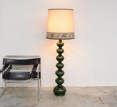 Impressive ceramic floor lamp for Kaiser Leuchten.