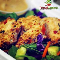 Paleo shrimp cakes! Order @PrimalOrganic Miami diet delivery online http://ift.tt/1FUfV5k . Offering healthy #lowcarb #glutenfree #paleo meal plans. Choose 1 2 or 3 meals per day. Call #primalorganic at 305-333-3004