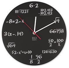 Pop Quiz Math Clock Wall Clock Decor for any Room Fun Creative Gift Idea Design