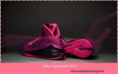 huge selection of 92443 72a4d borse online Uomo-Donna Nike Hyperdunk 2014 Rosafire II Nero-Rosa intenso-.  Pink WhiteBasketball Shoes ...
