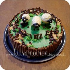 Lauramainen: Shaun the Sheep cake