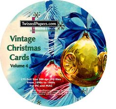 175 Vintage Christmas Images on CD Christmas by TwistedPapers, $9.95