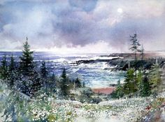 17 Best images about Nita engle Watercolor Sky, Watercolor Landscape Paintings, Landscape Art, Art Aquarelle, Painting Techniques, Mixed Media Art, Scenery, Fine Art, Drawings