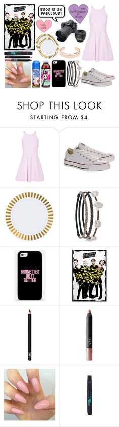 """Who Knows Me Better Tag with 5sos"" by lauraahood ❤ liked on Polyvore featuring Elizabeth and James, Converse, Wet Seal, NARS Cosmetics, Leith, Nikon, 5sos and 5secondsofsummer"