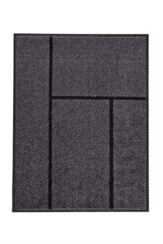 קוגה שטיח כניסה 90*69 אפור/שחור