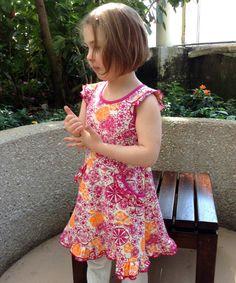 Adooka Organics Medallions flutter dress - organic girls dresses made in USA
