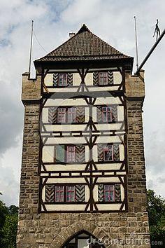 Architecture of the 13th eyelid in the city Esslingen am Neckar