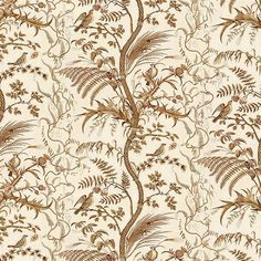 The drapes are made from Bird and Thistle cotton chintz from Brunschwig and Filsbrunschwig -bird-and-thistle-br-79431_068