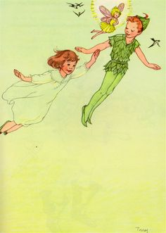 Peter Pan by J.M. Barrie, edited by Josette Frank from Peter Pan and Wendy, illustrated by Marjorie Torrey (1957).