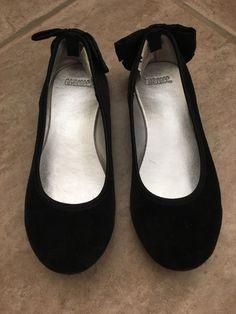 Gymboree Black Velvet Ballet Flats For Little Girls Size 11  | eBay