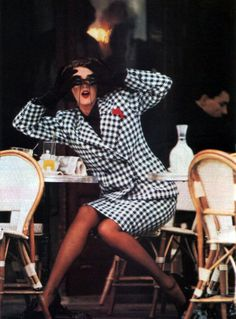 Yves Saint Laurent Variation, Harper's Bazaar, August 1984.