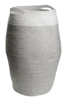 Jute laundry basket - Dark grey - | H&M GB 1