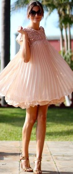 Perfect embroidered flowy mini dress