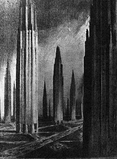 Hugh Ferris, The city of tomorrow 2 by llerena1127, via Flickr