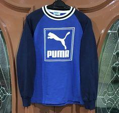 349101d9a Rare!!! Vintage 90s Puma Tennis Sweatshirt Big Logo Spellout Sweatshirt  sportwear Bjorn borg Pullover Jumper Sweater hip hop swag