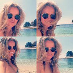 I'll be back!!   #montecarlo #EPTGrandFinal #pokerstars #beach #sun #sunglasses #rayban by poker player fatimademelo
