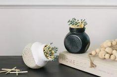 Before & After: From Plain IKEA Jar to Trendy Match Striker Ikea Spice Jars, Ikea Jars, Textured Spray Paint, Modern Birdhouses, Ikea Decor, Bird Houses Diy, Best Ikea, Easter Crafts For Kids, Craft Stick Crafts