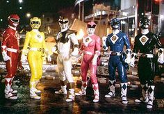 The armored version of the Might Morphin Power Rangers suits from the 90's. #mmpr