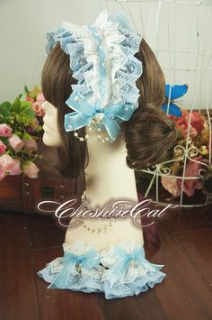 Cheap cuff gold, Buy Quality band string directly from China band lamp Suppliers: Ladies Blue and White Lace Lolita Accessory Hair Band Bonnet Headdress/Hand Cuff  SIZE Length 15 c