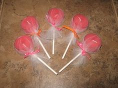 tea light lollipops...would be cute favors...