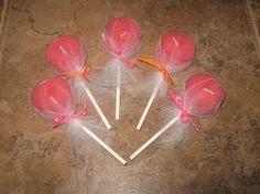 tea light lollipops...would be cute favors...