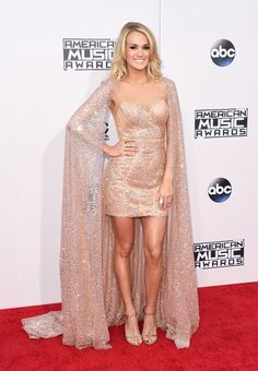 Carrie Underwood At The 2015 AMAs