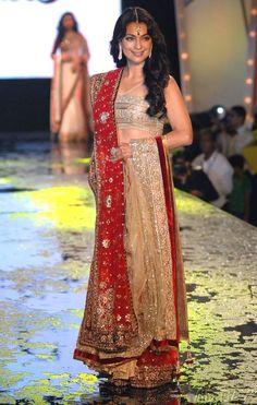 Juhi Chawla at Manish Malhotra's fashion show #Bollywood #Fashion