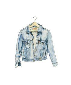 jacket, drawing, and jeans image Jacket Drawing, Hight Light, Moda Jeans, Denim Art, Blue Jean Jacket, Instagram Logo, Fashion Design Sketches, Instagram Highlight Icons, Fashion Art