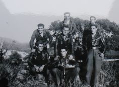 Defending freedom in great style: Maquisards who orchestrated the explosion of the bridge at Le Pont de Ratton on 19 July 1944. Sabotage by French resistance Maquis.