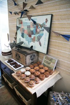 {A Vintage Travel Shower} with great ideas for an airplane bday party!