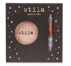 Stila Party In a Box $12 (2014) A set that debuted on Macy's and features an All Over Shimmer Powder as well as a Lip Glaze in Kitten (nude pink shimmer).
