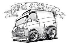 Cartoon Car Drawing, Comic Drawing, Car Drawings, Cartoon Art, Cars Coloring Pages, Coloring Books, Car Wall Art, Drawing Machine, Truck Art
