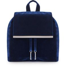 ShoeDazzle Bags William Velvet Backpack Womens Blue ❤ liked on Polyvore featuring bags, backpacks, blue, handbags, wallets & cases, rucksack bag, backpack bags, blue backpacks, knapsack bag and blue bag