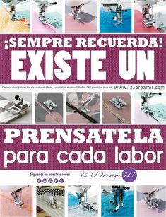 ¿Y tú, cuáles conoces? Sewing School, Sewing Class, Sewing Tools, Sewing Hacks, Sewing Tutorials, Sewing Projects, My Sewing Room, Love Sewing, Janome