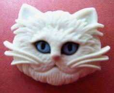 ButtonArtMuseum.com - Realistic Cat Head Button