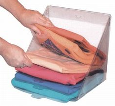 Slide 'N' Stax™ Fold 'N' Stax™ are multipurpose dividers that make folding and stacking your clothes quick and easy. Perfect size for sweaters, shirts, pants, towels, sheets and more.