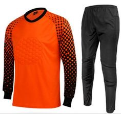 Long Sleeved Football Goalkeeper Uniform  Price: 19.68 & FREE Shipping  #hashtag4 Goalkeeper Kits, Soccer Outfits, Football Kits, Free Shipping, Sport T Shirts, Pickup Trucks, Sports, Soccer Kits, Soccer Equipment