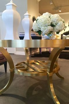 Trend: Pretty Please. The Pierce Table by Tobi Fairley for Woodbridge Furniture. 320 N. Hamilton. #HPMKT #hpmktSS #hpmktcoveredinkryptonhome