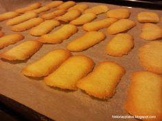 La historia detràs del plato: Lenguas de gato (lingue di gatto) Bakery Recipes, Cooking Recipes, Coconut Cookies, Food Decoration, Cake Shop, Four, Cookie Bars, Rice Krispies, Cupcake Cakes